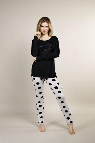 Pijama-com-Legging---Mescla-Poa